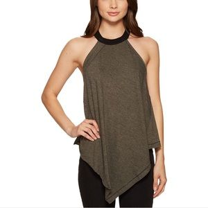 Free people rib halter neck tank top M